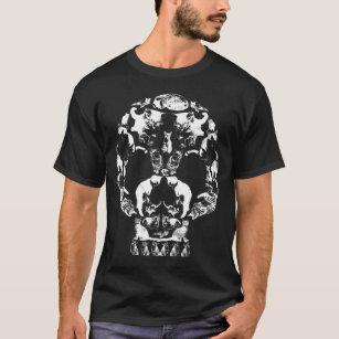 fe13f140c Cat skull death kitten ghost T-Shirt