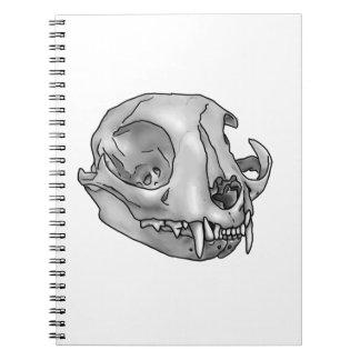 cat skull notebook