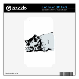 cat sleep skin for iPod touch 4G