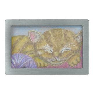 cat sleeping belt buckle