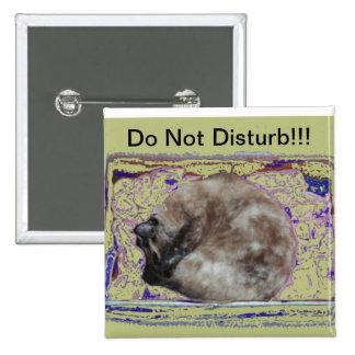 Cat Sleeping Do Not Disturb Button