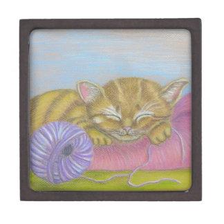 cat sleeping jewelry box