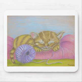 cat sleeping mouse pad