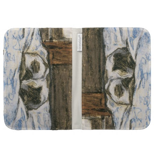 Cat Sleeping on a Bed by Claude Monet Kindle Keyboard Covers