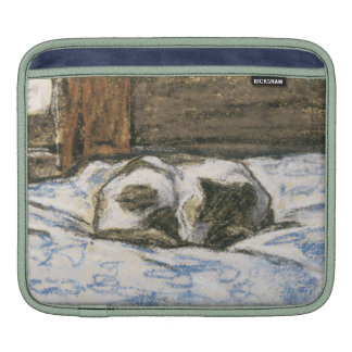Cat Sleeping on a Bed by Claude Monet Sleeve For iPads