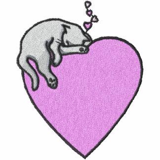 Cat Sleeping on Heart Pocket Size