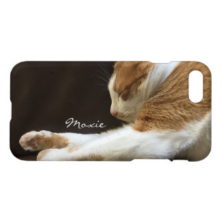 Cat sleeping on sofa iPhone 8/7 case