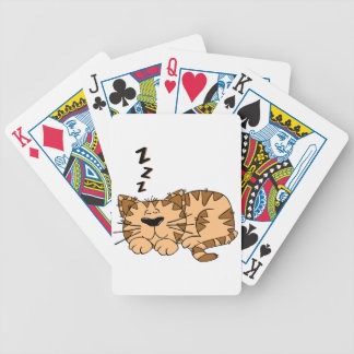 Cat Sleeping Playing Cards