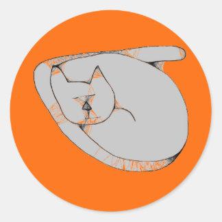 cat sleeps stickers
