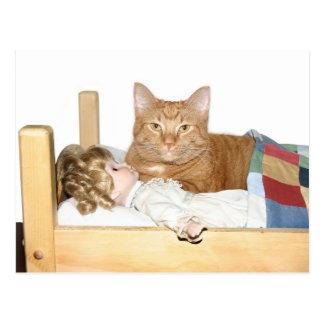 Cat slumber Party Postcard