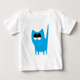 Cat Small Standing Blue Satisfied Smug Eyes T Shirts