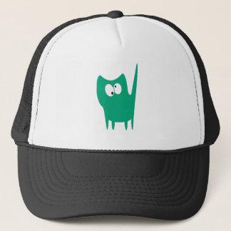 Cat Small Standing Green Topsy Turvey Eyes Trucker Hat