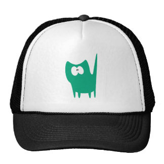 Cat Small Standing Green Wtf Eyes Cap