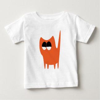 Cat Small Standing Orange Satisfied Smug Eyes T-shirts