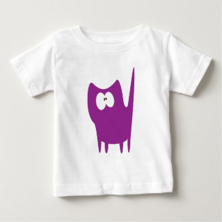 Cat Small Standing Purple Wtf Eyes Baby T-Shirt