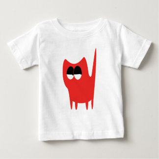 Cat Small Standing Red Satisfied Smug Eyes T Shirts