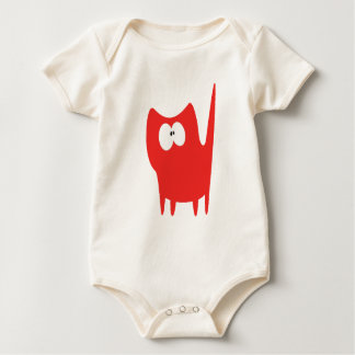 Cat Small Standing Red Wtf Eyes Baby Bodysuit
