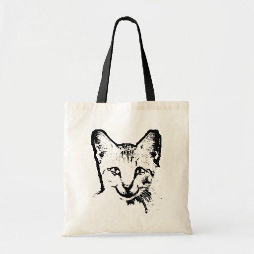 Cat Smile Budget Tote Bag