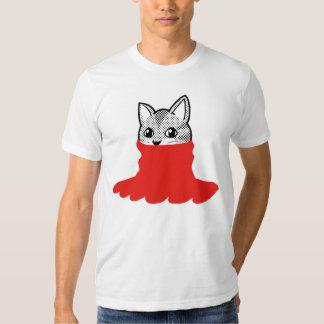 Cat Smiley Turtleneck Red T Shirt