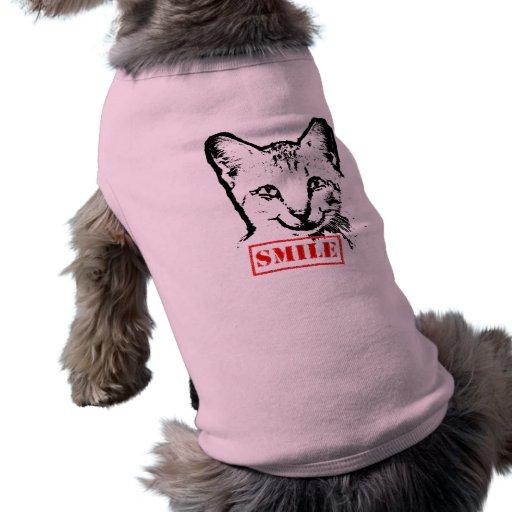 Cat Smiling Dog T Shirt
