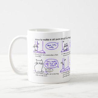 Cat Snow Angel Mug
