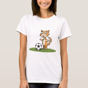 Cat Soccer T-Shirt