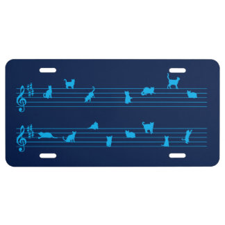 Cat Song License Plate
