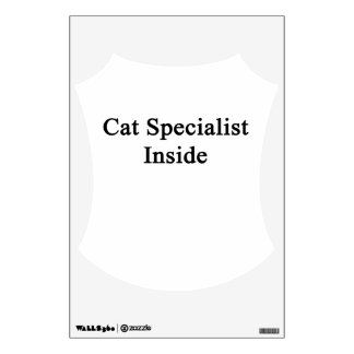 Cat Specialist Inside Room Decal