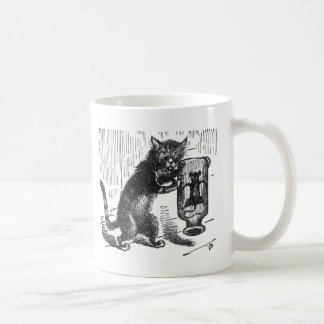 Cat Spies Mouse in Bottle Coffee Mug
