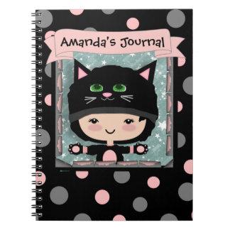 Cat spiral note book
