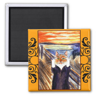 Cat spoof magnet Edvard Munch s Scream
