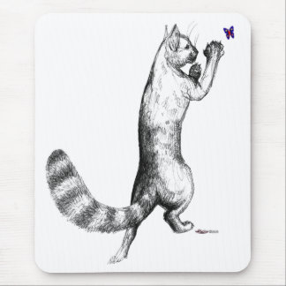 Cat Springing Mouse Pad