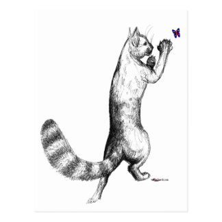 Cat Springing Postcard