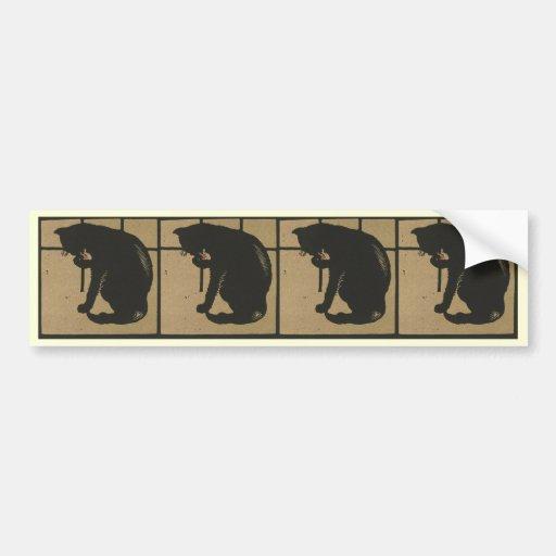 Cat - Square Animals Illustration Bumper Stickers