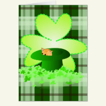 Cat St. Patrick's Day Greeting Card