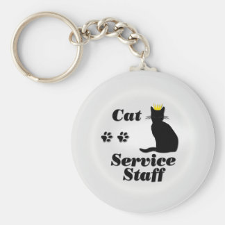 Cat Staff Keychain