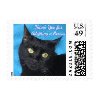 Cat Stamp - Thank you for adopting a rescue