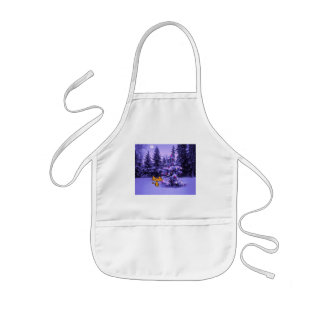 Cat Stands Bay A Christmas Tree Apron