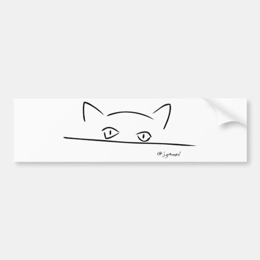 Cat Stare Bumper Stickers