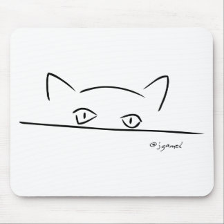 Cat Stare Mouse Pad