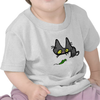 Cat stares at toy mouse shirts