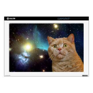 "Cat staring at the universe 17"" laptop skin"