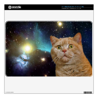 """Cat staring at the universe decal for 11"""" MacBook air"""