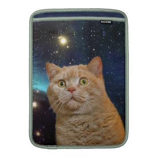 Cat staring at the universe sleeves for MacBook air