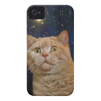 Cat staring at the universe iPhone 4 case