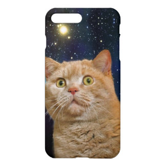 Cat staring at the universe iPhone 7 plus case