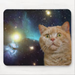 Cat staring at the universe mouse pad