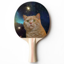 Cat staring at the universe Ping-Pong paddle