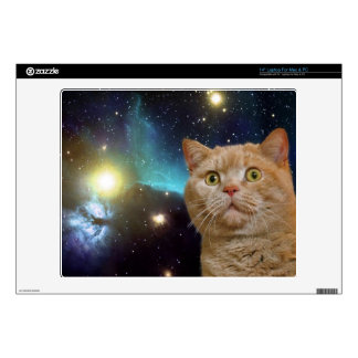 Cat staring at the universe skin for laptop