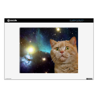 """Cat staring at the universe skins for 12"""" laptops"""